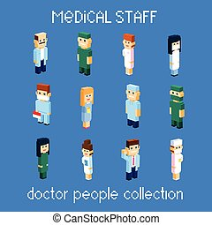 Medical Staff Doctor People Group Set Collection 3d...