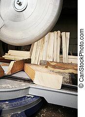 木頭, 切, 看見, 板條, 圓