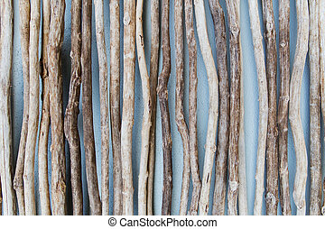 close up of wooden sticks - backgrounds and texture concept...