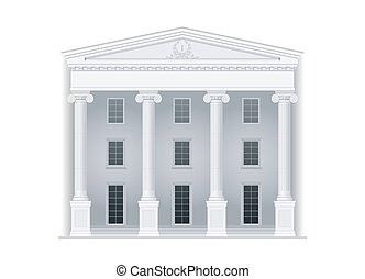 Courthouse in classic style - Courthouse or institution,...