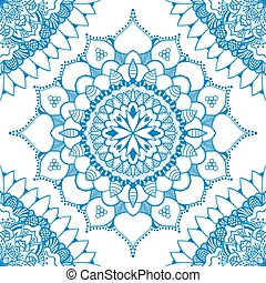 Seamless floral pattern. Seamless floral pattern of circular...