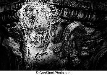 Antique Angel Cherub
