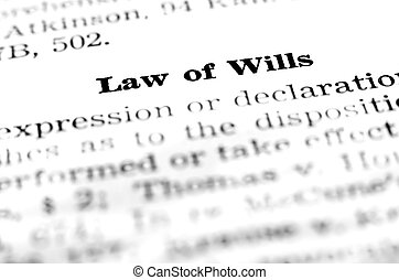 Law of Wills and Testaments