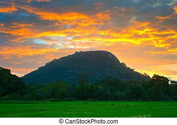 famoso, roca,  Sri,  Lanka,  Sigiriya