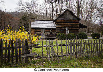 Smoky Mountain Cabin In The Spring - Historical cabin the...