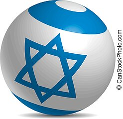 Israel flag on a 3d ball