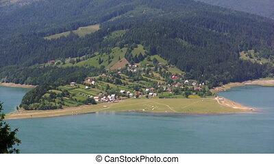 Coastline holiday landscape