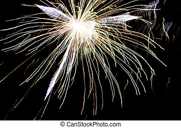 Fireworks Explosion - White fireworks explosion in the dark...