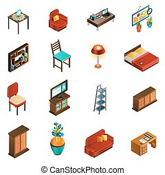 House Interior Icons Set