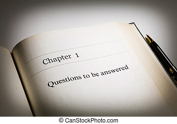Questions to be answered - fake book chapter one, Questions...