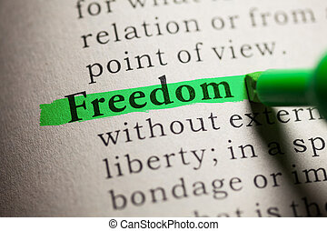 Freedom - Fake Dictionary, definition of the word Freedom