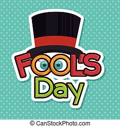 fools day design, vector illustration eps10 graphic