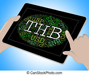 Thb Currency Represents Thai Baht And Coinage - Thb Currency...