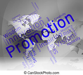 Promotion Words Means Discount Merchandise And Save