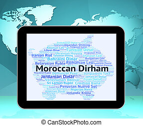 Moroccan Dirham Shows Morocco Dirhams And Exchange -...