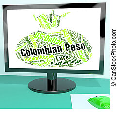 Colombian Peso Indicates Currency Exchange And Currencies -...