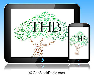 Thb Currency Represents Forex Trading And Coinage - Thb...