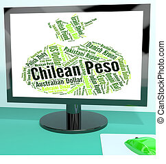 Chilean Peso Shows Worldwide Trading And Clp - Chilean Peso...