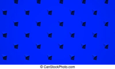 Blue Triangle Abstract - Loop able 3DCG render Abstract...