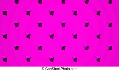 Pink Triangle Abstract - Loop able 3DCG render Abstract...