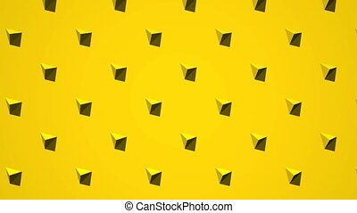 Yellow Triangle Abstract - Loop able 3DCG render Abstract...
