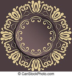 Nice Vector Greeting Card - Nice vector frame with floral...