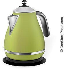 Green electric kettle - Photorealistic green electric kettle...