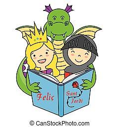 Dragon, Knight and Princess
