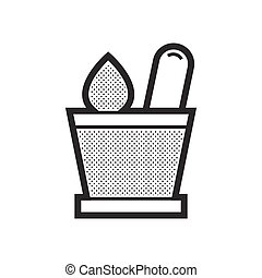 mortar with herbs icon