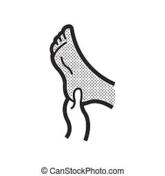 massaging gout feet icon