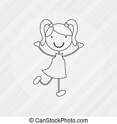 kids happy design, vector illustration eps10 graphic