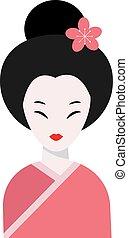 japoneses, mulher, folk-art, solteirona, CÙte,...