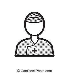Patient head bandage Icon