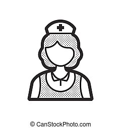 design nurse icon, old clothe style