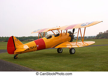 Stearman biplane - Historic US Stearman biplane