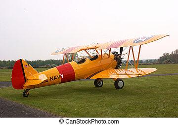 Stearman biplane - Historic US Stearman biplane