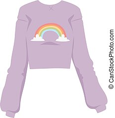 Girls blouse fashion female shirt with long sleeves glamour clothing style vector illustration.
