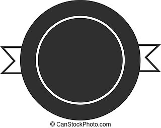 Design elements black color badge logo icon vector isolated