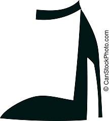 Women's high heels beautiful shoes fashion style footwear cartoon flat.