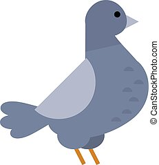 Dove vector icon illustration cartoon style bird - Dove...