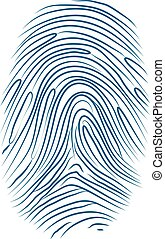 Imprint of the thumb finger human hand on white
