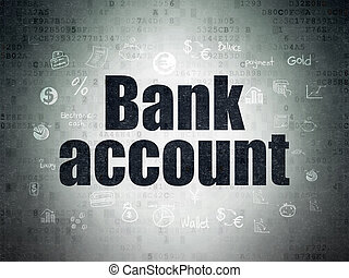 Money concept: Bank Account on Digital Paper background -...