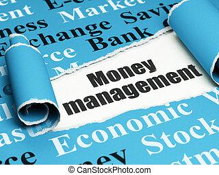 Money concept: black text Money Management under the piece...