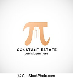 Constant Estate Abstract Vector Icon, Label or Logo Template...