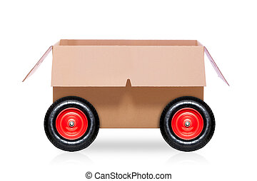 moving box on wheels - mail delivery moving box on wheels...