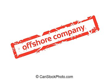 Offshore Company Red Stamp Grunge Sign