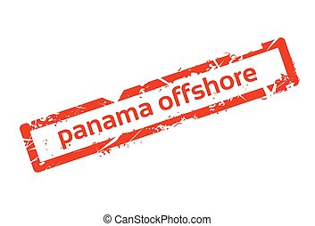 Panama Offshore Red Stamp Grunge Sign