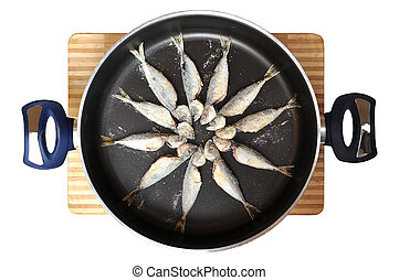Fresh fish and teflon pans - Teflon pan ready to cook fresh...