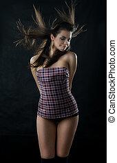 Young dancing woman.