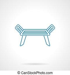 Dress dryer blue flat line vector icon
